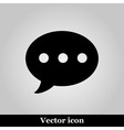 Message Icon on grey background vector image vector image