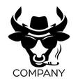 modern bull logo vector image