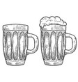 mug beer isolated on white background design vector image vector image
