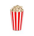 popcorn mockup realistic style vector image vector image