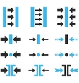 Pressure Horizontal Flat Icon Set vector image