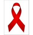 Red Ribon - Symbol of World AIDS Day vector image