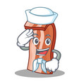 sailor bacon character cartoon style vector image vector image
