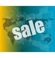 sale on business digital touch screen vector image vector image