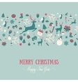 Seamless pattern design Merry Christmas card vector image vector image