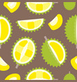 seamless pattern tropical fruit durian flat design vector image vector image
