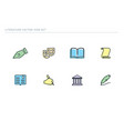 set school icons theme of education vector image vector image