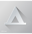 Tent Flat Icon Design vector image vector image
