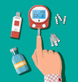 testing blood glucose concept glucometer vector image