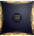 transparent golden sparkle light effect background vector image vector image