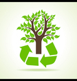 Tree inside the recycle icon vector image vector image