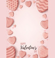 valentines day background vertical pink abstract vector image vector image