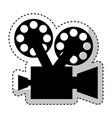 video camera retro icon vector image