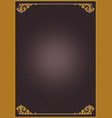 vintage abstract frame template vector image vector image