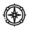vintage compass icon outline vector image vector image