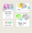 vintage invitation card with watercolor elements vector image vector image