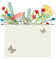 Watercolor natural card vector image vector image