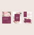 wedding dried protea orchid pampas grass floral vector image vector image