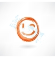 wink grunge icon vector image vector image