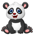 Cute baby panda cartoon vector image