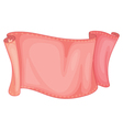 pink cloth vector image