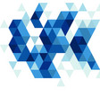 abstract blue triangle modern template vector image vector image