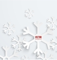 Abstract christmas snowflake paper 3D backbround vector image
