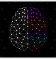 abstract geometric brain of left and right vector image