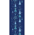 Abstract holiday Christmas trees vertical seamless