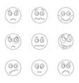 appearance icons set outline style vector image vector image