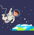 astronaut float in space vector image vector image