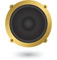 Audio speaker app icon vector image vector image