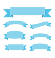 Blue ribbon banners set Beautiful blank vector
