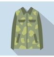 Camouflage jacket cartoon icon vector image