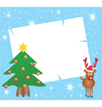 Card With Deer vector image vector image