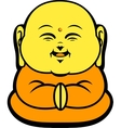 Cartoon Character Happy Buddhist Smile vector image
