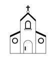catholic church symbol black and white vector image