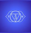 chakra ajna symbol vector image