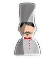 Chef hat profile vector image