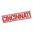 Cincinnati red square stamp vector image vector image