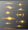 collection of different horizontal flare light vector image