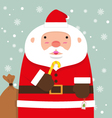 cute fat big Santa Claus vector image vector image
