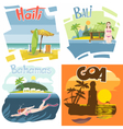 Digital touristic vacation destination set vector image