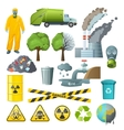 Environmental Pollution Elements Set vector image vector image