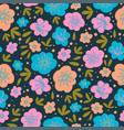 floral doodle nature textile print seamless patter vector image vector image