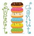 for glazed sweet donut vector image vector image