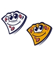 Funny slice of pizza vector image vector image
