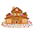 gingerbread house cookie sweet decorated dessert vector image
