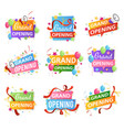 grand opening festive event ceremony opening vector image vector image