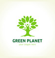 green planet logo vector image